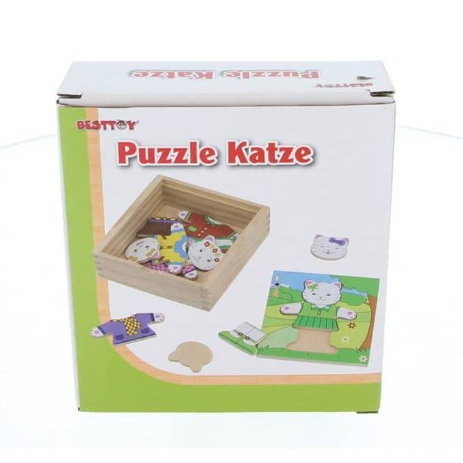 Holzpuzzle Katze