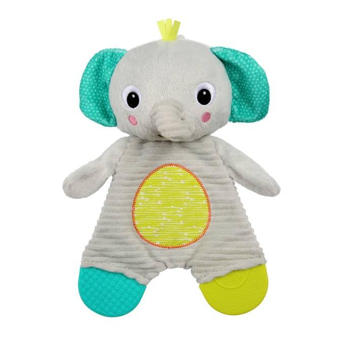 Bright Starts - Schmusetuch Snuggle & Teethe - Elefant