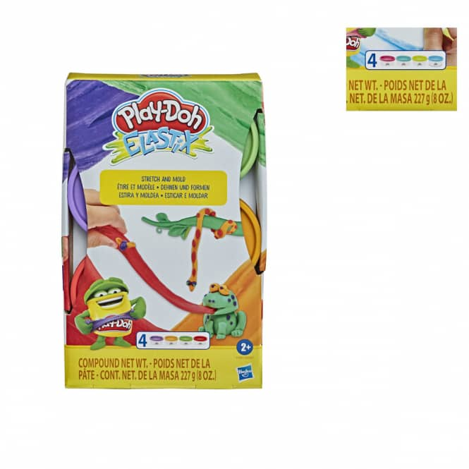 Play-Doh - Elastix - 4er Pack Knete