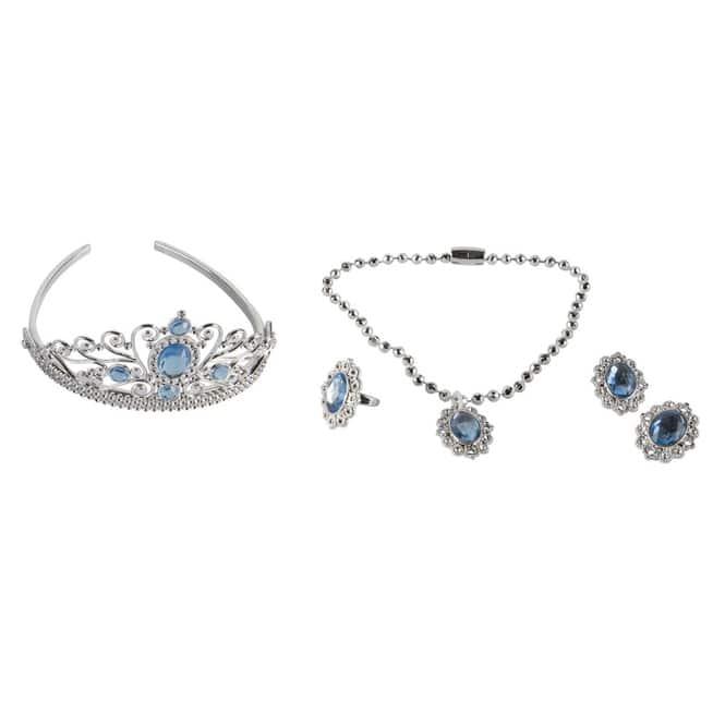Prinzessinnenschmuck - Set - blau - 4-teilig
