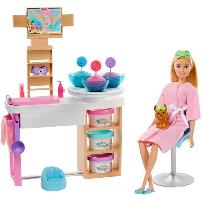 Barbie - Wellness Gesichtsmasken - Spielset mit Puppe