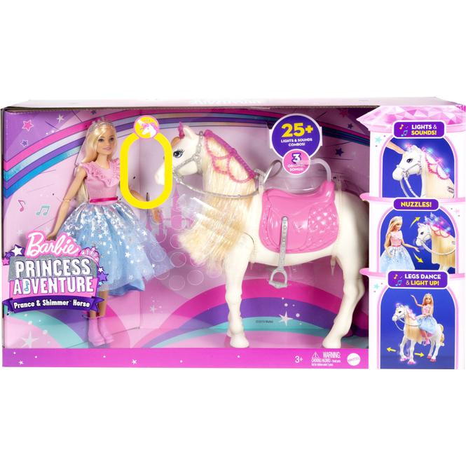 Barbie - Prinzessinnen Abenteuer - Tanzendes Pferd und Puppe