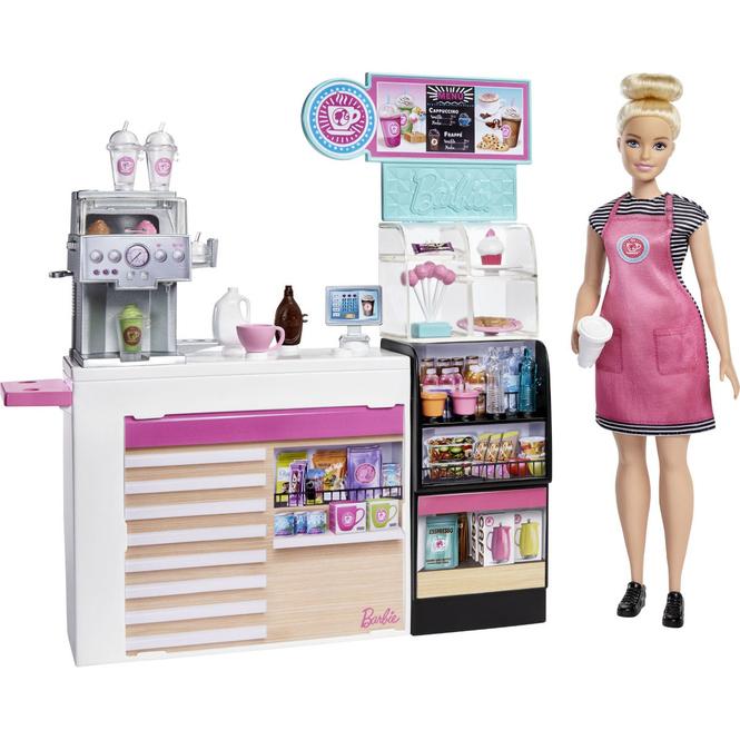 Barbie - Naschcafé - Spielset mit Puppe