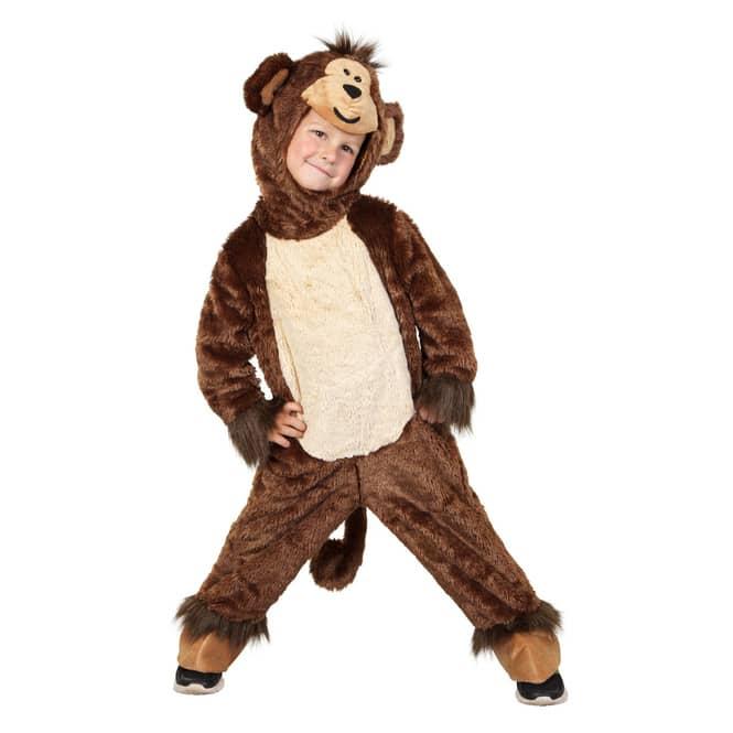Kostüm - Kleiner Affe - für Kinder - 2-teilig - verschiedene Größen