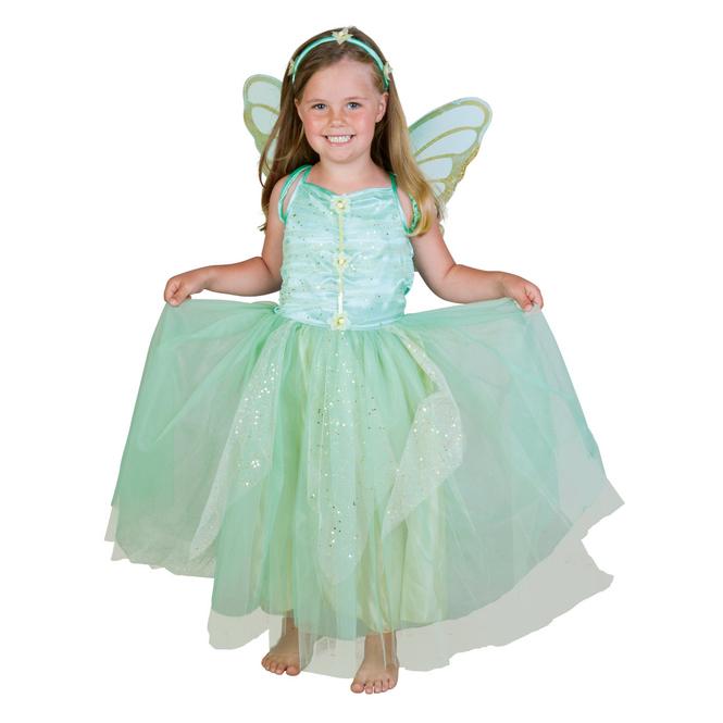 Kostüm - Grüne Blumenfee - für Kinder - 3-teilig - Größe 98/104