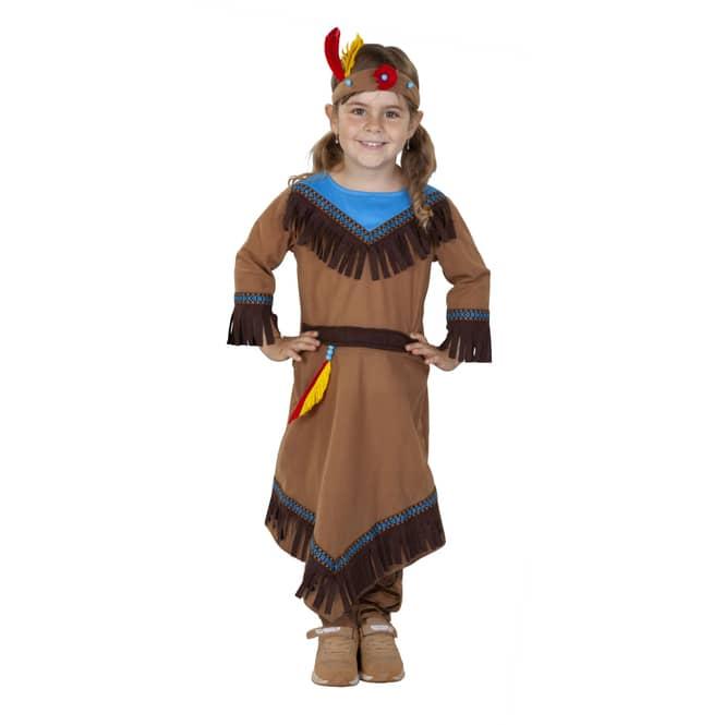 Kostüm - Indianermädchen - für Kinder - 3-teilig - Größe 98/104
