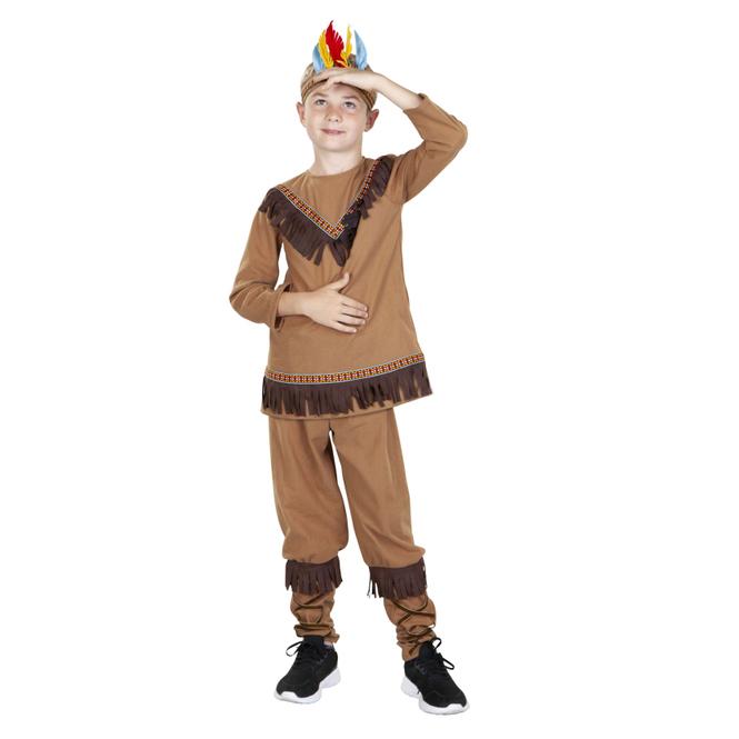 Kostüm - Indianerjunge - für Kinder - 3-teilig - verschiedene Größen