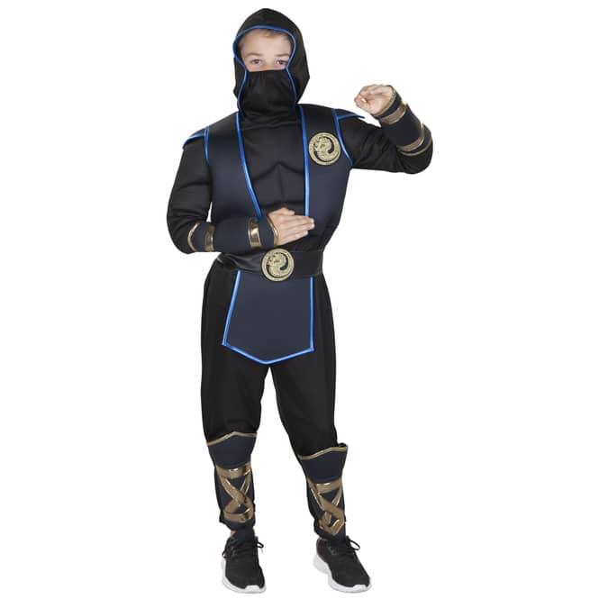 Kostüm - Shadow Ninja - für Kinder - 2-teilig - Größe 110/116