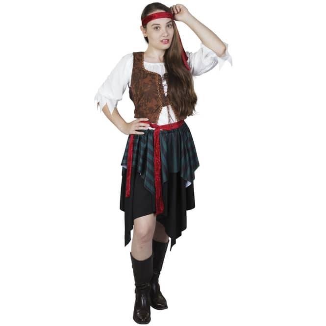 Kostüm - Seeräuberin - für Erwachsene - 5-teilig - Größe 40/42