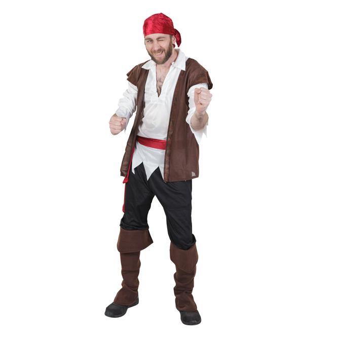 Kostüm - Seeräuber - für Erwachsene - 6-teilig - Größe 52/54