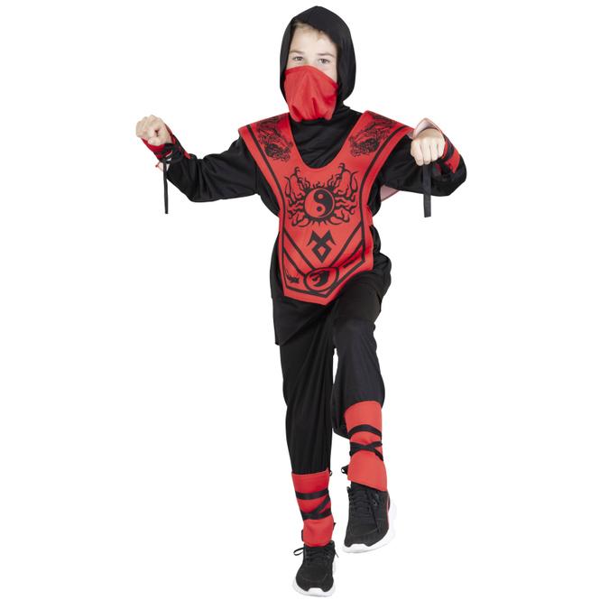 Kostüm - Drachenninja - für Kinder - 6-teilig - Größe 134/140