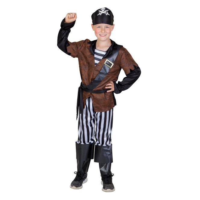 Kostüm - Kleiner Seeräuber - für Kinder - 4-teilig - Größe 110/116