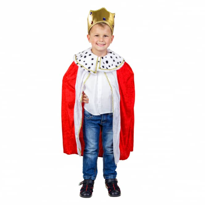 Kostüm - Kleiner König - für Kinder - 2-teilig - Größe