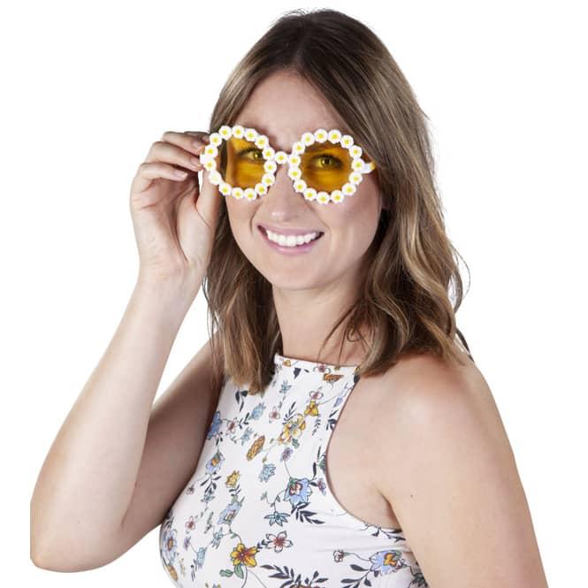 Brille - Gänseblümchen Hippie - für Erwachsene