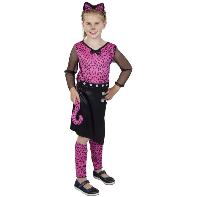 Kostüm - Leopardenmädchen - für Kinder - 4-teilig - verschiedene Größen