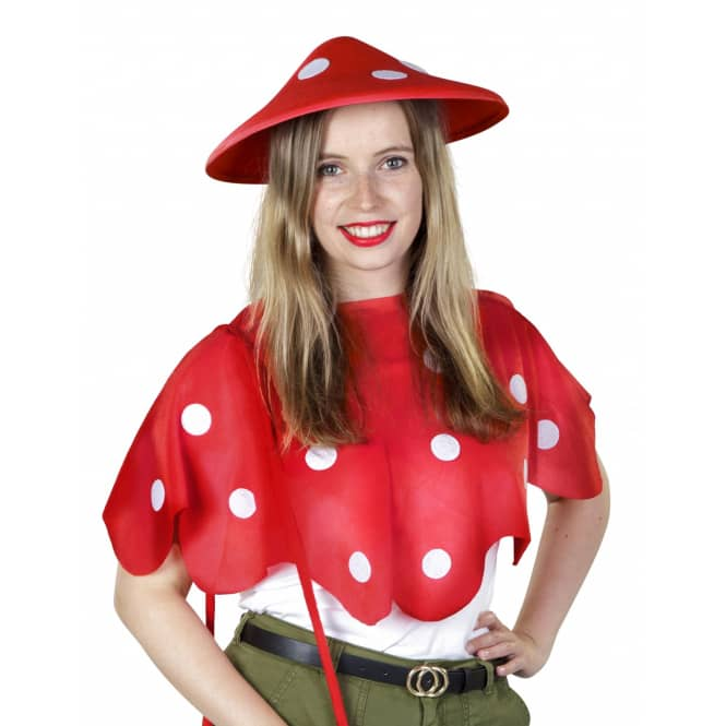 Kostüm - Fliegenpilz - für Erwachsene