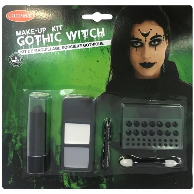 Schminkset - Goth Hexe - Make-up mit Zubehör