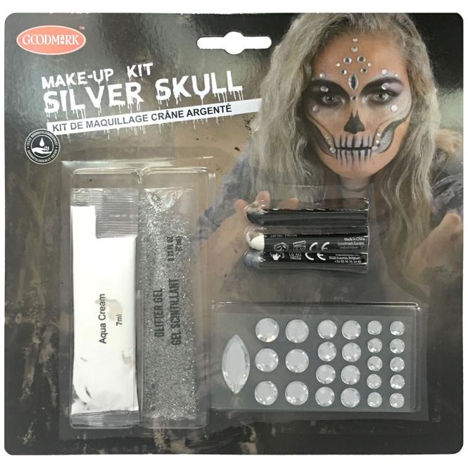 Schminkset - Skelett - Make-up mit Zubehör