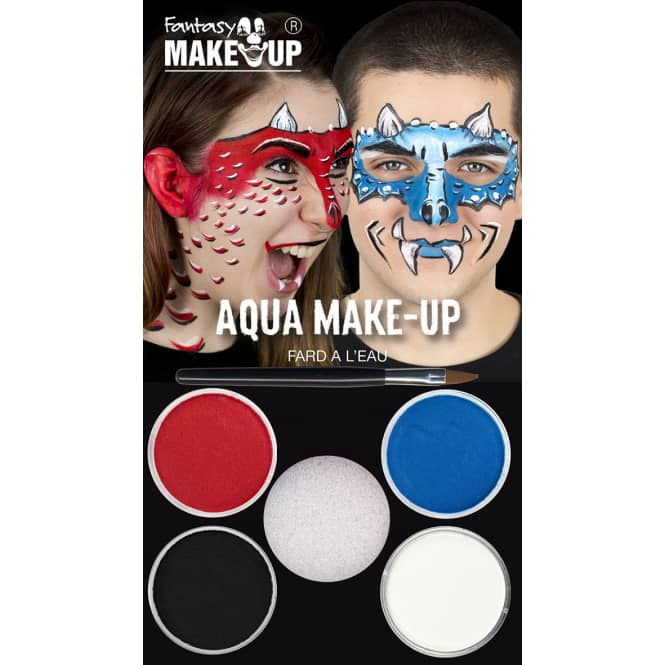Schminkset - Drache - Make-up mit Zubehör