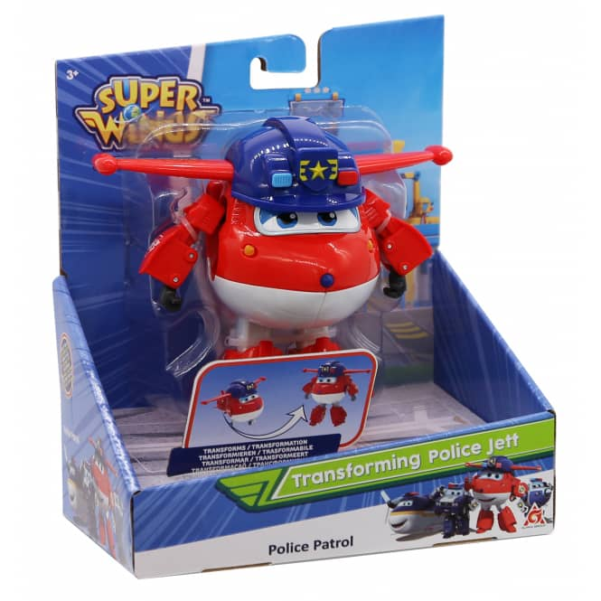 Super Wings - Transforming Police Jett - ca. 12 cm