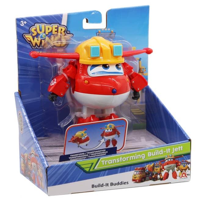 Super Wings - Transforming Build-it Jett - ca. 12 cm