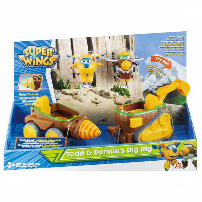 Super Wings - Spielset - Todd & Donnie's Dig Rig