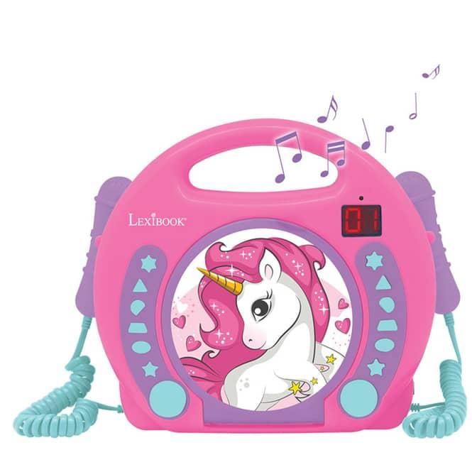 CD-Player - mit 2 Mikrofonen - rosa