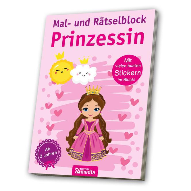 Mal- und Rätselblock - Prinzessin