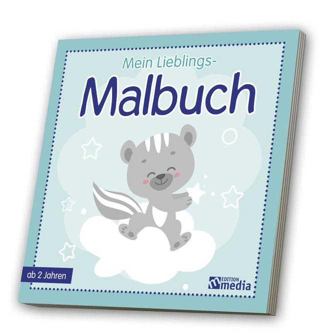 Mein Lieblings-Malbuch - blau