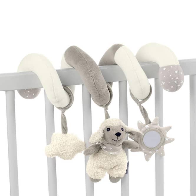 Spielzeugspirale - Stanley - mit Rassel, Spiegel und Knisterpapier