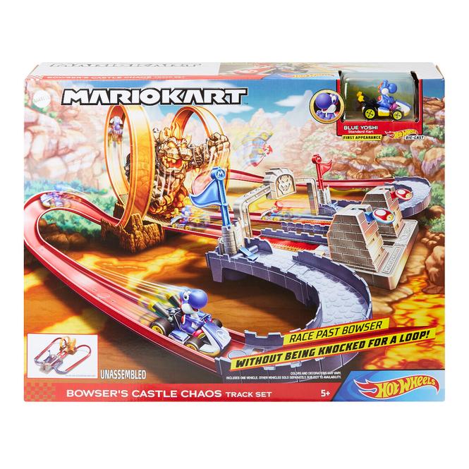 Hot Wheels - Rennbahn - Bowsers Festung Trackset - Mario Kart