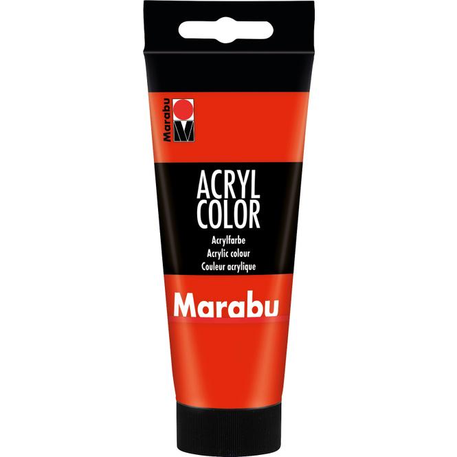 Marabu - Acryl Farbe - Zinnoberrot -  1 Tube á 100 ml