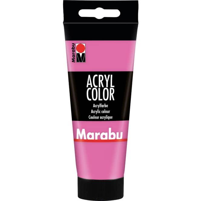Marabu - Acryl Farbe - Pink -1 Tube á 100 ml