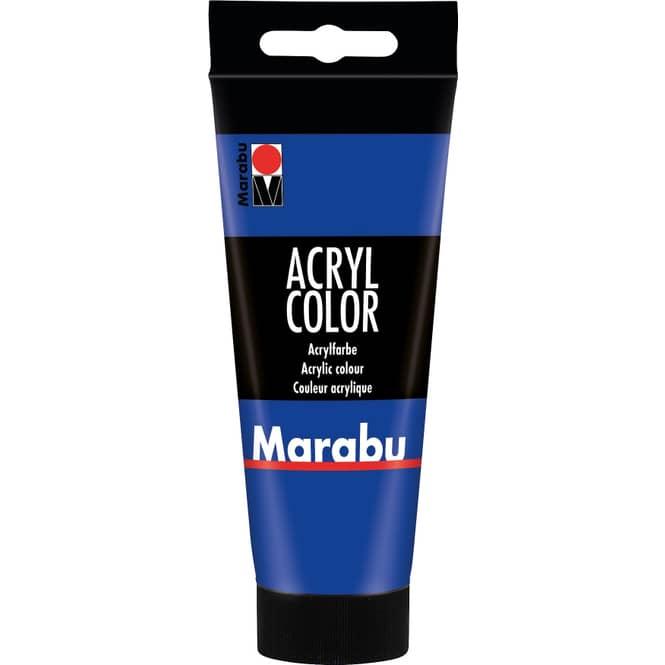 Marabu - Acryl Farbe - Ultramarinblau - 1 Tube á 100 ml