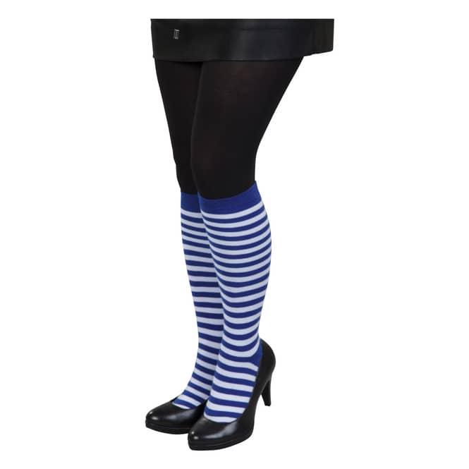 Kniestrümpfe - Streifen - für Erwachsene - blau/weiß