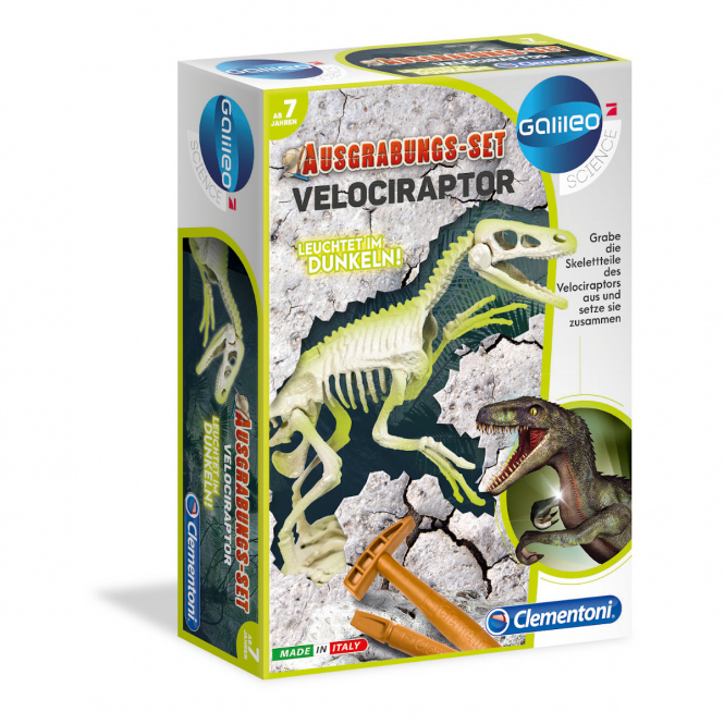 Galileo - Ausgrabungs-Set Velociraptor - Clementoni
