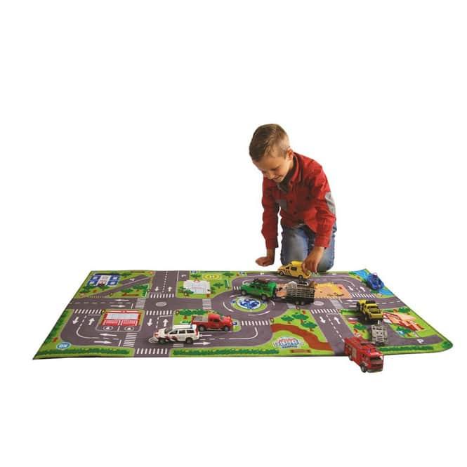 Spielteppich mit LED-Ampeln - Maße: ca. 120 x 70 cm