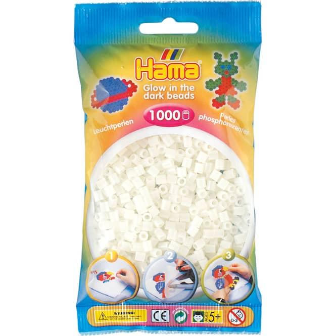 Hama Bügelperlen - 1000 Perlen - leuchtgrün