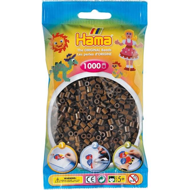 Hama Bügelperlen - 1000 Perlen - braun