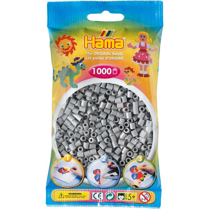 Hama Bügelperlen - 1000 Perlen - grau