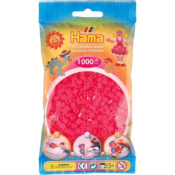 Hama Bügelperlen - 1000 Perlen - fuchsia