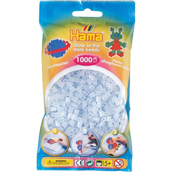 Hama Bügelperlen - 1000 Perlen - leuchtblau
