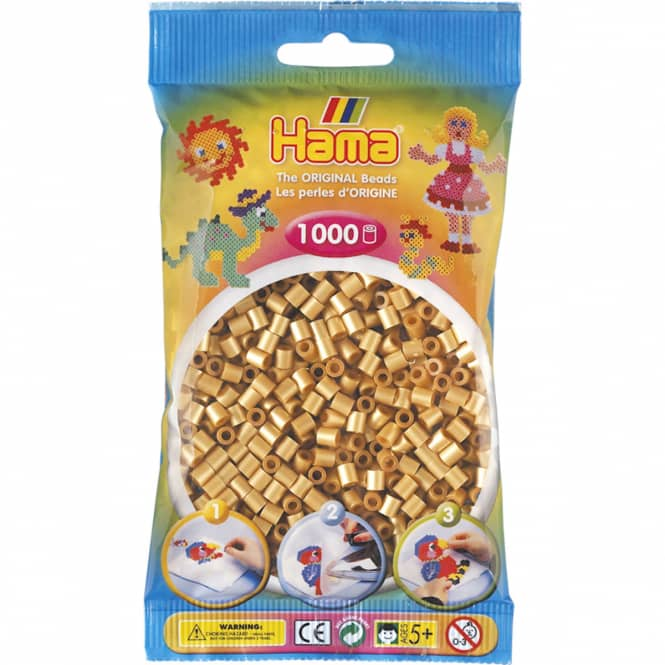 Hama Bügelperlen - 1000 Perlen - gold