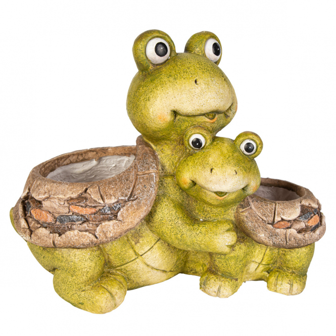 Pflanzgefäß - Schildkröten - aus Magnesia - ca. 37 x 21 x 29 cm