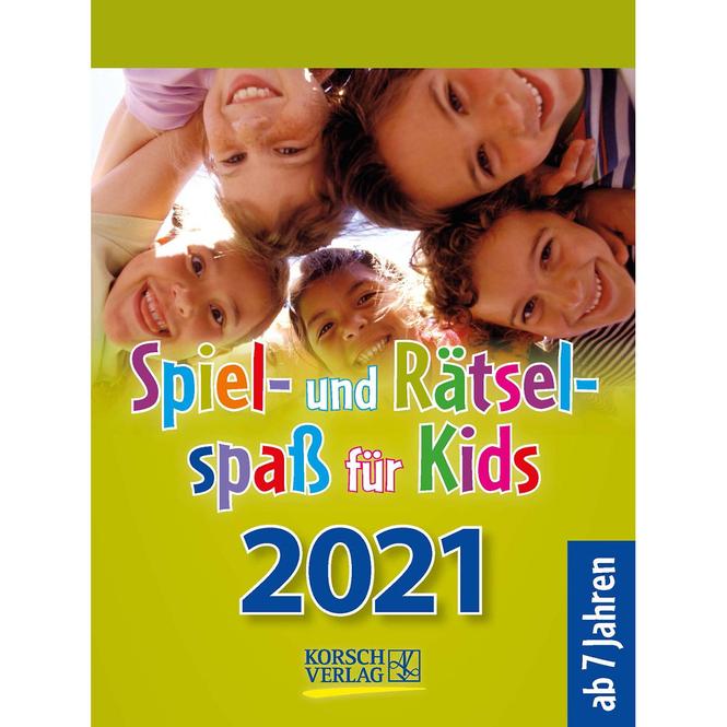 Kalender - Spiel- und Rätselspaß für Kids 2021