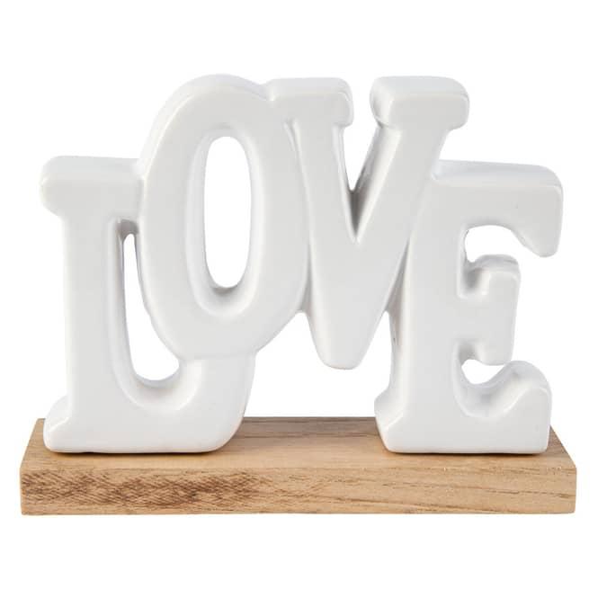 Deko-Schriftzug - Love - aus Keramik - ca. 17 x 5 x 13 cm