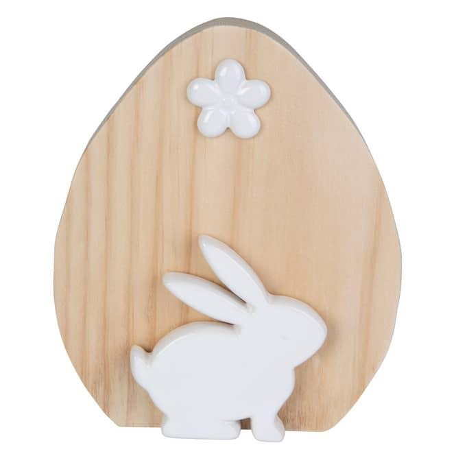 Osterei - aus Holz - ca, 12,5 x 3,5 x 15 cm