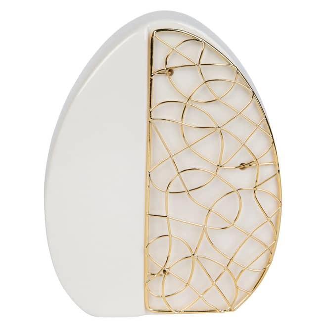 Osterei - aus Keramik - ca. 12 x 4,5 x 15 cm
