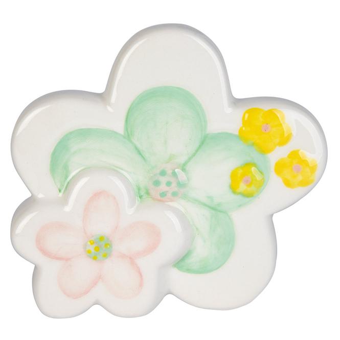 Dekoblumen - aus Keramik - ca. 10 x 2 x 9,5 cm
