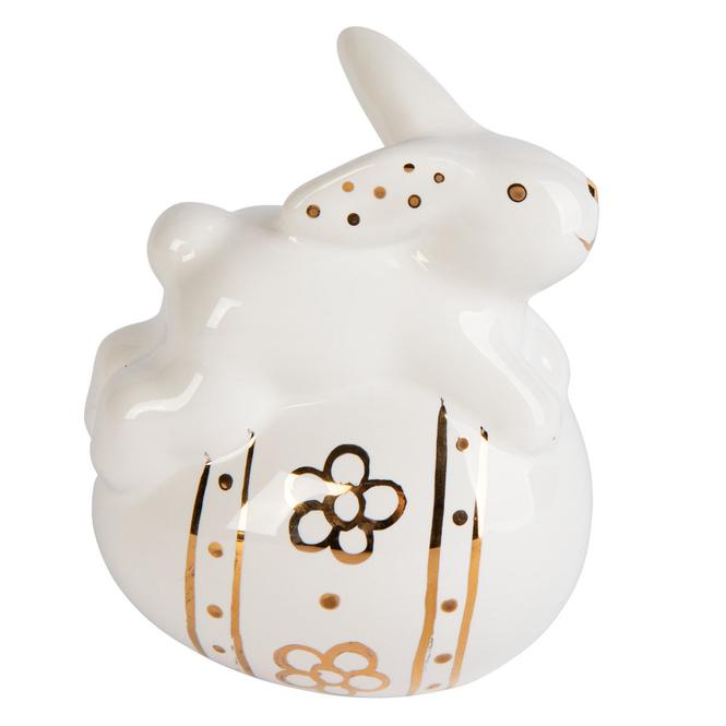 Dekohase - aus Keramik - ca. 4,5 x 6 x 7,5 cm